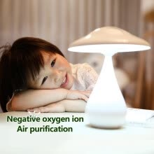 table-lamps-NeillieN Mushroom Desk Lamp, LED Dimmable Mushroom Night Light ,Rechargeable Negative ion air purifying Lamp,Touch LED Table Lamp on JD