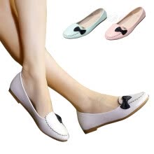 875061444-Women Round Toe Bow Knot Flats Shoes Ballet Walking Slip On Casual Oxford on JD