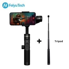 camera-accessories-FeiyuTech SPG2 Set 3-Axis Handheld Gimbal Stabilizer for Smartphone iPhone X 8 7 OPPO Samsung ViVO phones with pole and tripod on JD