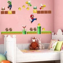 -Cute Super Mario Wall Decals Removable Vinyl Art Mural Home Baby Kids Room Decor on JD