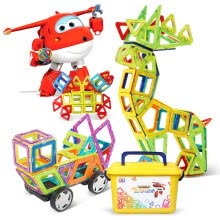 -AULDEY Magnetic tiles Building Blocks  (200pcs)DL391201 on JD