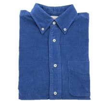 -BIIFREE Casual Button-Down Shirts Men's Clothing 100% Cotton Long Sleeve  Corduroy Shirt Navy on JD