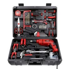power-tools-WORKPRO W004509N Household Drill Set 136 pcs Set Toolbox Set Speed ​​Pistol Drill 320W on JD