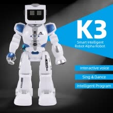 -Smart Intelligent Robot Alpha Robot K3 Hydroelectric Hybrid Intelligent Robot RC/Sound Control Singing Dancing Robot Children's Gi on JD