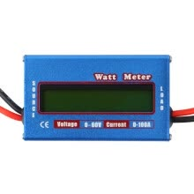 rc-plane-accessories-100A 60V DC RC Helicopter Airplane Battery Power Analyzer Watt Meter Balancer on JD