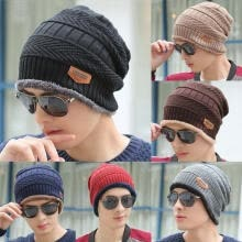 -New Unisex Women Mens Knitted Knit Winter Warm Ski Crochet Slouch Hat Cap Beanie on JD