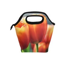 -Orange Tulip Lunch Bag Tote Bag Travel Picnic Organizer Lunch Holder Handbags Lunch Bag Box on JD