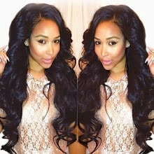 -N.L.W. Brazilian virgin human hair Full lace wigs Natural Body wave Glueless wigs for black women on JD