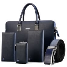 briefcases-GOLF Men bag Business Briefcase men's purse Key case Men belt in five-piece on JD
