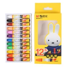 -Morning light (M & G) MF9011-1 Miffy cartoon 3D hexagonal oil painting stick crayon brush 12 color / box on JD