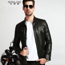 -Men's leather jacket long sleeve autumn witer clothing genuine sheepskin coat real leather the newest style on JD