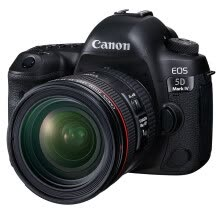 -Canon EOS 5D Mark IV kit (EF 24-70mm f / 4L IS USM) SLR camera on JD