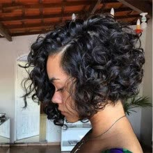 -Short Bob Wavy Lace Front Human Hair Wigs For Black Women 100% Brazilian Full Lace Wig with Baby Hair on JD