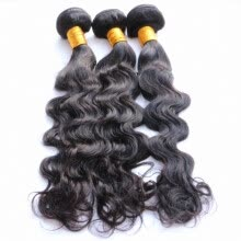 -Indian Virgin Hair Weave Romance Wave 3Pcs 100% Human Hair Extensions Virgin Indian Hair Bundles Natural Black Color 1B New Style on JD