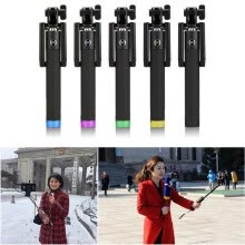 -MyMei Luxury Extendable Folding Wired Selfi Self Selfie Stick Monopod For Samsung Galaxy S5 Note3 iphone 6 5S Perche Selfies Selfi on JD