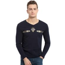 8750723513-xiangsiniao Men's cotton V-collar long-sleeved T-shirt on JD