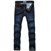 -Playboy PLAYBOY jeans men's casual waist straight washable pants 16063PL90 light blue 36 on JD