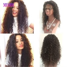 -Top Quality Brazilian Human Hair wig Curly Full Lace Wig for Blank Woman Full Lace Human Hair With Baby Hair on JD