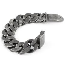 -25mm Mens Chain Boys Big Curb Link Gunmetal Tone 316L Stainless Steel Bracelet charm bracelets for women on JD