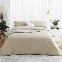 8750203-DAPU stripes cotton bed set/bed kit (duvet cover/bed sheet/pillowcase) on JD