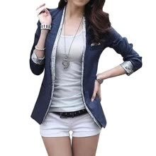 suiting-blazers-CT&HF Women Fashion Suit Cotton Blazer Coat on JD