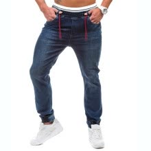 875068681-Men's Casual Elastic Waist Jeans Cotton Denim Pants on JD