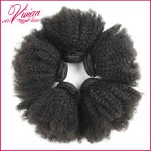 -8A Mongolian Kinky Curly Virgin Hair 3 Bundles Mongolian Kinky Curly Hair Mongolian Afro Kinky Curly Virgin Human Hair Extension on JD