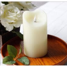 candles-holders-Simplux Free-Flowing 3D Fireless flame Real Wax LED Pillar Candles Light With Timer Battery-Operated Ivory 9.5x16.5 cm(3.75x6.5 in on JD