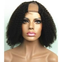 -N.L.W.  Brazilian virgin human hair Afro curl  Upart wigs with baby hair for black women on JD