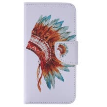 -Indian Hat Design PU Leather Flip Cover Wallet Card Holder Case for SAMSUNG J510 J52016 on JD