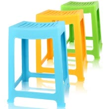 8750213-Camellia Stool Plastic Chair Thicker Striped Stool 46.6cm High Side Stool Arc Stool A0838P on JD