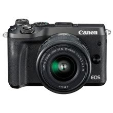-Canon EOS M6 (15-45) Mini Interchangeable Digital Camera Black on JD