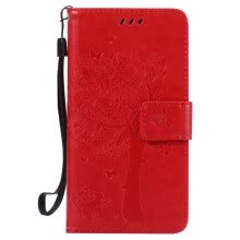 -Red Tree Design PU Leather Flip Cover Wallet Card Holder Case for SAMSUNG A5 on JD