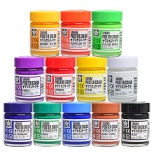 -Cherry (Sakura) gouache paint 12 color suit 30ml PW12 [Japanese imports] on JD