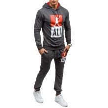 -Hot Fashion Men's Hooded Sports Sweatsuit Jogging Suit on JD