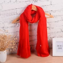 8a59ebfe8b34a [Jingdong Supermarket] Bai Shangyi special lady wild casual long scarf  spring, summer, autumn and winter seasons universal cotton and linen shawl  yellow
