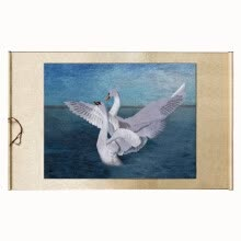"87502-Xun yi ji Fine embroidery paintings ""Swan"" pure hand made home decoration gift on JD"