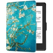 -Pottery fit Kindle 558 version of the protective cover / shell painting series new Kindle e-book sleeping gloves Van Gogh apricot on JD
