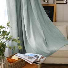 8750202-FOOJO Foo finished curtains thicker shading floor curtains 2 * 2.7M (high) Icelandic blue on JD