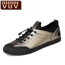 875062575-VUV2017 men's summer New Mens Casual black leather fashion shoes breathable comfort low shoes shoes trend of students on JD