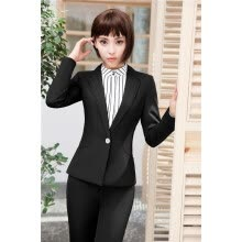 -Elegant Blue Slim Fashion Formal Blazers Long Sleeve Autumn Winter Jackets Coat For Ladies Office Female Tops Outwear Clothes on JD