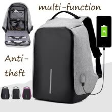 875062575-New  Luminous Backpack Fashion Casual Laptop Anti-theft Notebook School Bag with  USB Charging Port on JD