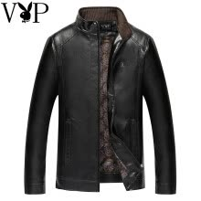 -Player of the year 2017 men's fur clothing qiu dong single-style business casual PU jacket jacket man on JD