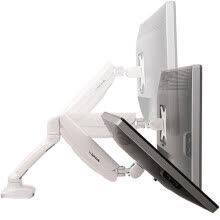 875061464-Loctek DLB502W Computer Bracket Display Bracket Ergonomic Bracket Full Dimensions Gas Spring Bracket 10-27 Inch White on JD