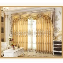 8750202-Romantic Tulle Curtains for Bedroom Sheer Lace Curtains for Living Room Modern Faux Silk European Embroidered Luxury Curtains on JD