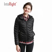 -INTERIGHT 90 white duck down the women hat models ultra-light portable down jacket sky blue XL code on JD