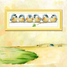 needlework-embroider DIY DMC Cross stitch,Sets For Embroidery kits  Six little singing birds factory direct sale on JD