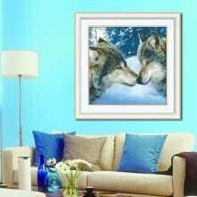 needlework-embroider DIY DMC Cross stitch,Sets For Embroidery kits  Wolf's kiss factory direct sale on JD