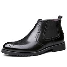 875062322-Peter GEDI BIDEGAIDI men's boots business casual shoes British trend boots wear breathable B51009 black plus cotton 40 on JD