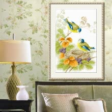 needlework-embroider DIY DMC Cross stitch,Sets For Embroidery kits  Kiss of birds  factory direct sale on JD